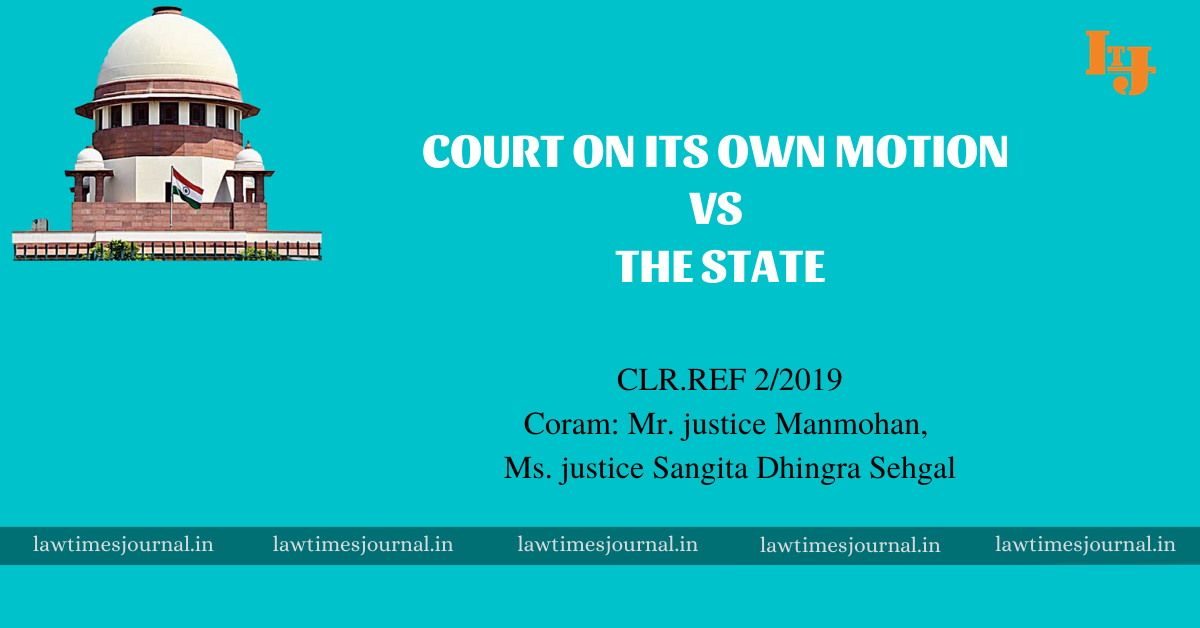 High Court of Kerala on its Own Motion vs. Union of India